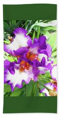 Irises 5 Beach Towel
