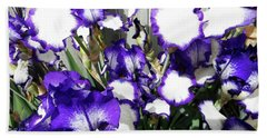 Irises 8 Beach Towel