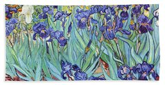 Irises Beach Towel