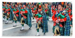 St. Patrick Day Parade In New York Beach Towel