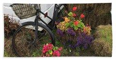 Irish Bike And Flowers Beach Sheet