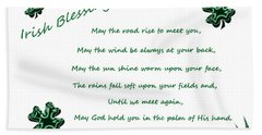 Irish Blessing 2 Beach Sheet