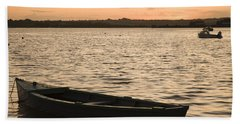 Beach Towel featuring the photograph Irish Dusk by Ian Middleton