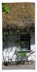 Irish Farm Cottage Window County Cork Ireland Beach Towel