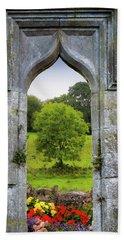 Beach Towel featuring the photograph Irish Summer Through Kildysart Church Ruins by James Truett