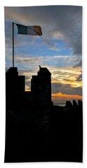 Irish Sunset Over Ramparts 1 Beach Sheet