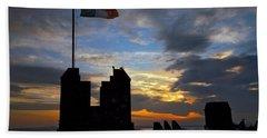 Irish Sunset Over Ramparts 2 Beach Sheet