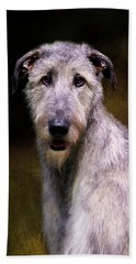 Irish Wolfhound Portrait Beach Towel