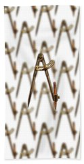 Beach Sheet featuring the photograph Iron Compass Pattern by YoPedro
