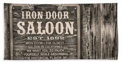 Iron Door Saloon 1852 Beach Sheet