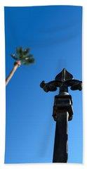 Ironwork Fleur-de-lis With Date Palm Beach Towel by Stan  Magnan