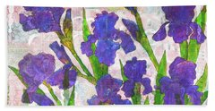 Irresistible Irises Beach Towel