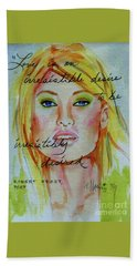 Beach Towel featuring the painting Irresistible by P J Lewis