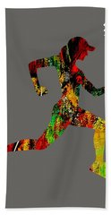 iRun Fitness Collection Beach Sheet by Marvin Blaine