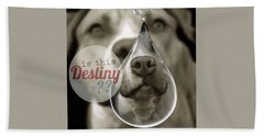 Beach Towel featuring the digital art Is This Destiny by Kathy Tarochione
