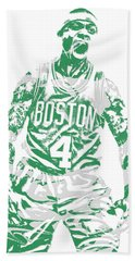 Isaiah Thomas Boston Celtics Pixel Art 16 Beach Towel
