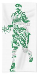 Isaiah Thomas Boston Celtics Pixel Art 17 Beach Towel