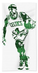 Isaiah Thomas Boston Celtics Pixel Art 4 Beach Towel
