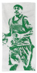 Isaiah Thomas Boston Celtics Pixel Art Beach Towel