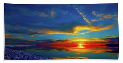 Beach Towel featuring the photograph Isand Sunset by Norman Hall