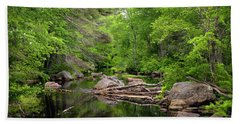 Isinglass River, Barrington, Nh Beach Towel