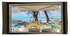 Island Bar View Beach Towel