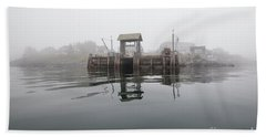 Island Boat Dock Beach Sheet