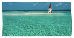 Beach Sheet featuring the photograph Island Gnome by Harry Spitz