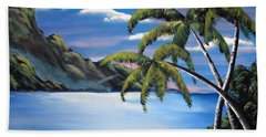 Island Night Glow Beach Towel
