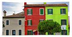 Island Of Burano Tranquility Beach Sheet