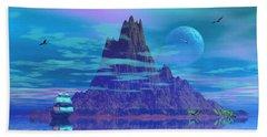 Island Of Lost Souls Beach Sheet by Mark Blauhoefer