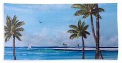 Island Paradise Beach Towel by Lloyd Dobson