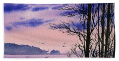 Beach Towel featuring the painting Island Point by James Williamson
