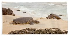 Beach Towel featuring the photograph Island Rest by Heather Applegate
