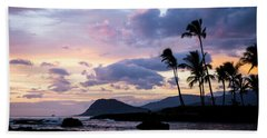 Beach Towel featuring the photograph Island Silhouettes  by Heather Applegate