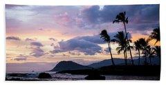 Island Silhouettes  Beach Towel by Heather Applegate