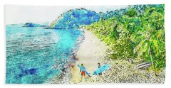 Island Surfers Beach Towel