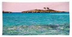Island Tree Couple Beach Towel