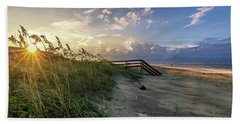 Beach Towel featuring the photograph Isle Of Palms Sunstar by Donnie Whitaker