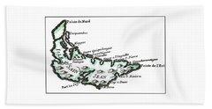Isles Saint Jean - Prince Edward Island - 1774 Beach Towel