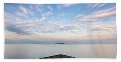 Islet Baraban With Lighthouse Beach Sheet