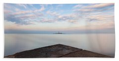 Beach Towel featuring the photograph Islet Baraban With Lighthouse by Davor Zerjav