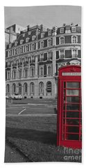 Isolated Phone Box Beach Towel
