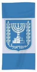 Beach Towel featuring the drawing Israel Coat Of Arms by Movie Poster Prints