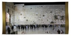 Israel Western Wall - Our Heritage Now And Forever Beach Sheet