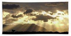 Beach Towel featuring the photograph Israeli Desert Sunrise At Timna by Yoel Koskas