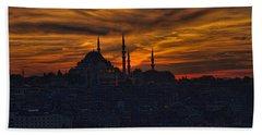 Istanbul Sunset - A Call To Prayer Beach Towel