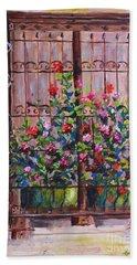 Istanbul Window Beach Sheet by Lou Ann Bagnall