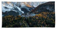 Beach Towel featuring the photograph Italian Alps II by Yuri Santin