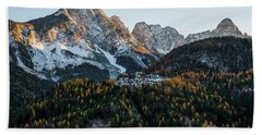 Beach Towel featuring the photograph Italian Alps by Yuri Santin